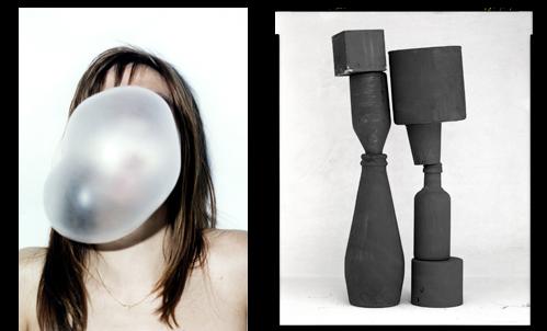 Foto: Annika von Hausswolff, Utan titel (med bubbla) och #1027, (ur serien Arbetsnamn Skulptur), © Dawid
