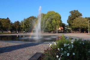 """Från Valdagen2014 Foto Richard Eliasson """"regnbåge vid fontänen"""""""