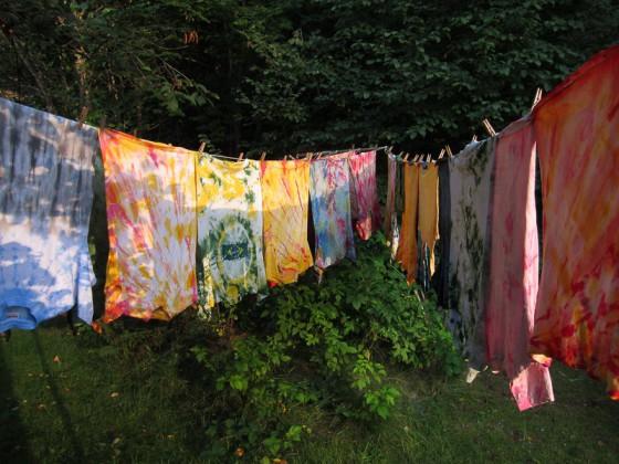 Batik på tork Foto: Evelina Eriksson